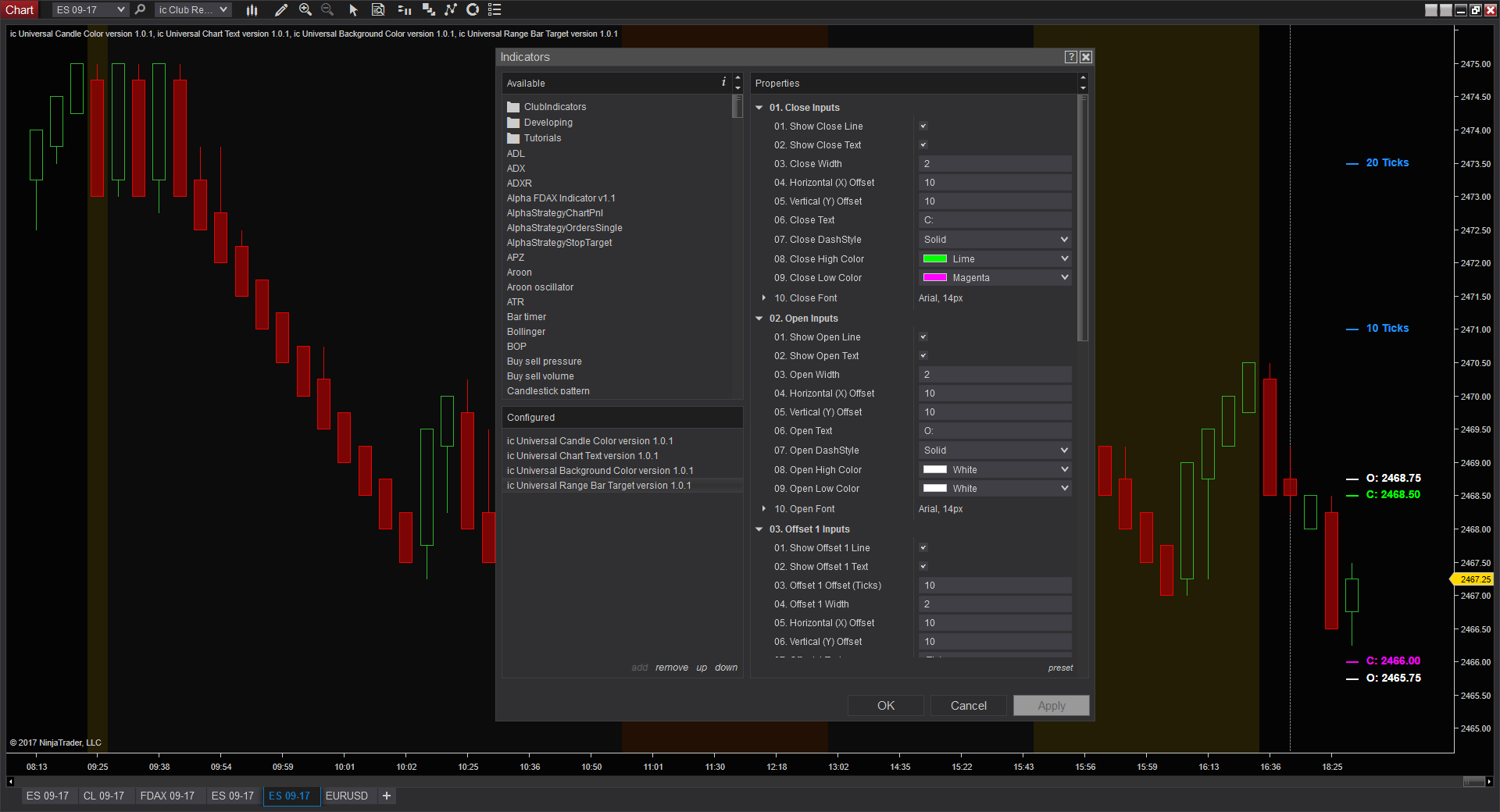 Projected Bar Range | Free NinjaTrader Indicator | The Indicator Club